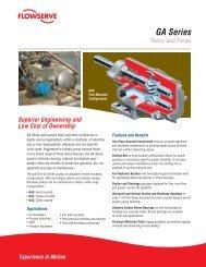 GA Series - Flowserve Corporation