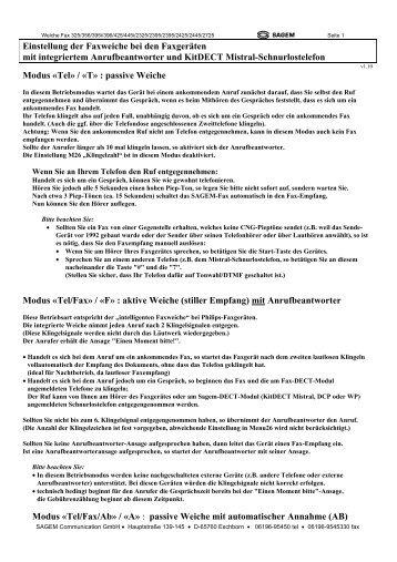 Faxweiche Phonefax - Fax-Anleitung.de