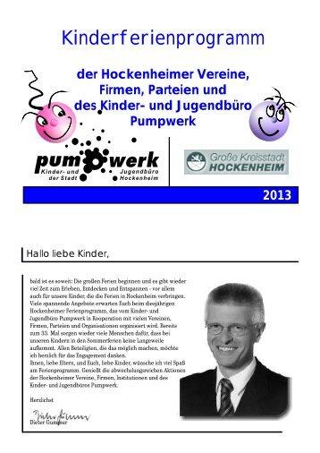 Kifepro 2013 Homepage - Pumpwerk Hockenheim