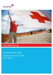 Vuosikertomus 2010 Suomen Punainen Risti 13.5.2011