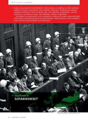 Oppitunti 5: Sotarikokset (pdf) - Punainen Risti
