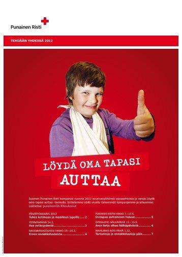 Tehdään yhdessä -kouluvihko - Punainen Risti