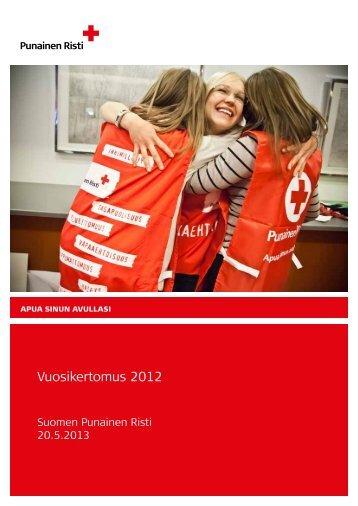 Vuosikertomus 2012 - Punainen Risti