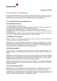 Suomen Punaisen Ristin työjärjestys - Punainen Risti