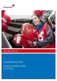 Vuosikertomus 2011 Suomen Punainen Risti 11.5.2012