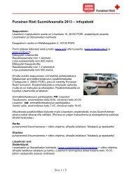 Infopaketti majoittujille (pdf) - Punainen Risti