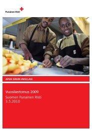 Vuosikertomus 2009 Suomen Punainen Risti 3.5.2010