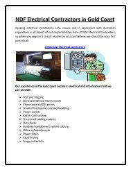 NDF Electrical Contractors in Gold Coast