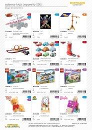 advenz-kidz Leporello 2012 - Hoffmann Spielwaren Kundenlogin