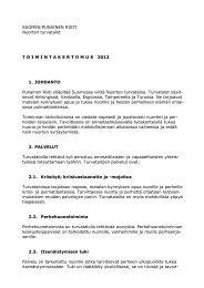 Nuorten turvatalojen toimintakertomus 2012 - Punainen Risti