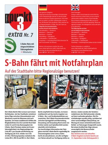 Extra Nr. 7 - S-Bahn Berlin GmbH