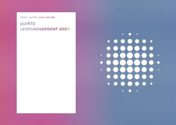 LeistungsBERICHT 2007 - Zuger Fachstelle punkto Jugend und Kind
