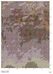 Page 1 Prohibida su venta BRUME by PANDA - Punto Cruz Gratis