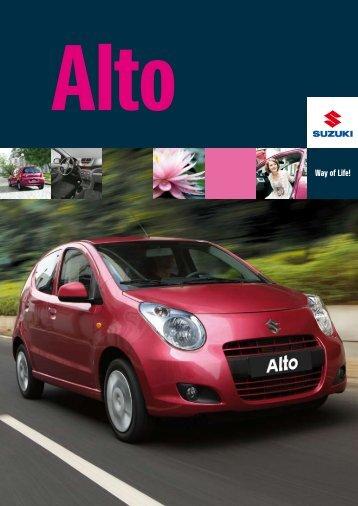 Suzuki Alto brochure mei 2012