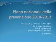Il Piano Nazionale per la Prevenzione 2010-2012 - PuntoSicuro
