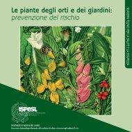 Le piante degli orti e dei giardini: prevenzione del rischio - Ispesl