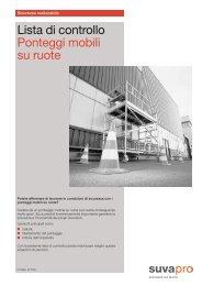 Lista di controllo Ponteggi mobili su ruote - Prometeo S.r.l.