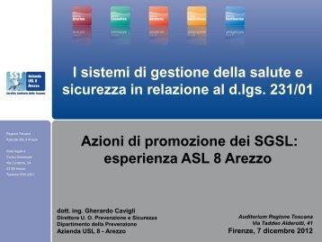esperienza ASL 8 Arezzo - PuntoSicuro