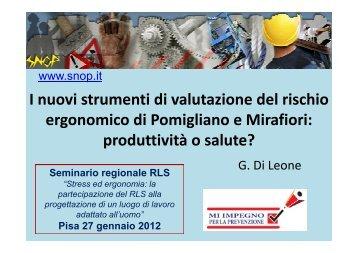 2012 I nuovi strumenti di valutazione del rischio ergonomico di ...