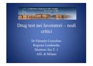 Drug test nei lavoratori – nodi critici - Atti della conferenza