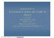 Questionario RLSSA - RSPP - MC - ASL - PuntoSicuro