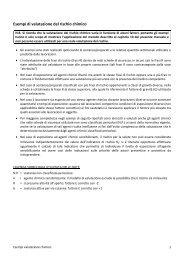 Esempi di valutazione del rischio chimico - Testo Unico Sicurezza