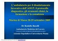L'ambulatorio per il disadattamento lavorativo dell'AOUP - PuntoSicuro
