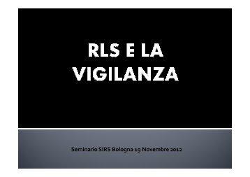 RLS e la Vigilanza - PuntoSicuro