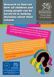 Young Peoples Participation - Pupil Voice Wales