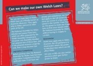 Can we make our own Welsh Laws? - Pupil Voice Wales
