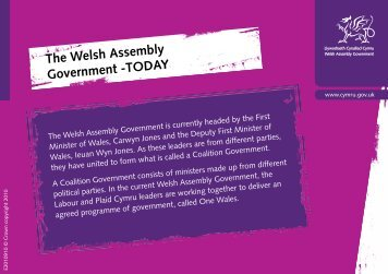 The Welsh Assembly Government -TODAY - Pupil Voice Wales