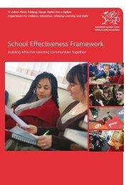 School Effectiveness Framework - Pupil Voice Wales