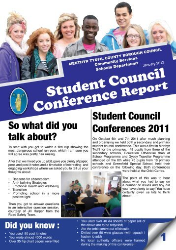 Student Council Conference Report - Pupil Voice Wales