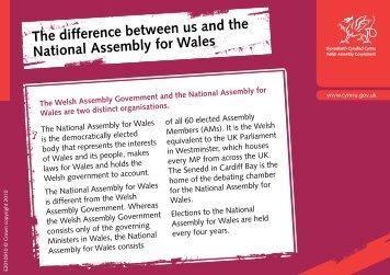 Y gwahaniaeth rhyngom ni a Chynulliad ... - Pupil Voice Wales