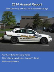 Purchase College UPD Annual Report 2010