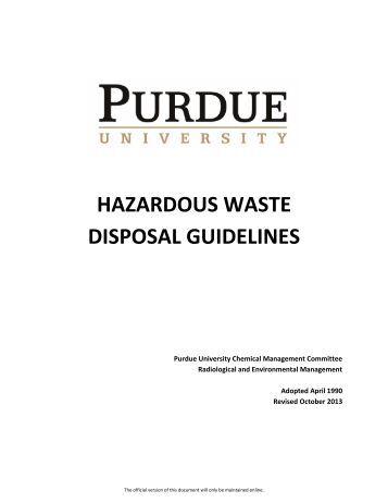 Contaminated hazardous waste disposal flowchart staff for Household hazardous waste facility design
