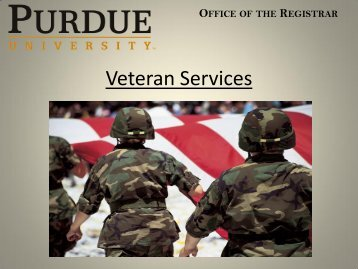 Veteran Services - Purdue University