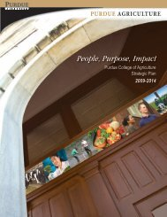 College of Agriculture Strategic Plan - Purdue University