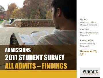 Admitted Student Survey - Purdue University