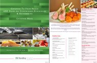 ASE Handling Catering Menu
