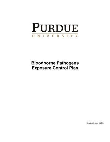 Bloodborne Pathogens Exposure Control Plan - Purdue University