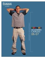 ACADEMIC CATALOG - Purdue University Calumet