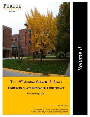 Volu m e II - Purdue University Calumet