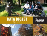 Purdue University Calumet Data Digest 2012-13