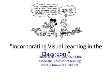"""Incorporating Visual Learning in the Classroom"" - Purdue University ..."
