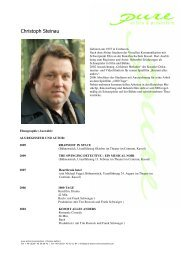 Steinau, Christoph neu - pure actors and presenters