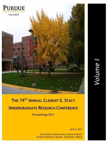 Volu m e I - Purdue University Calumet