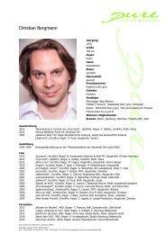 Bergmann, Christian 12 - pure actors and presenters