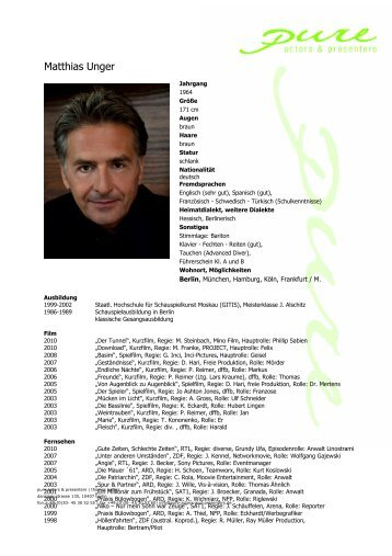 Tauchen (Advanced Diver) - pure actors and presenters