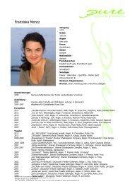 Mencz, Franziska 13 - pure actors and presenters